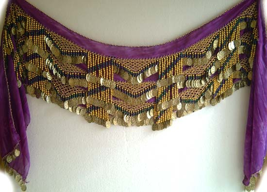Luxury Belly Dance Hip Scarf Egyptian Hip Scarves Zills Skirts